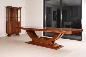 Artdeco dining room bookcase and table  finished in cocobolo veneer