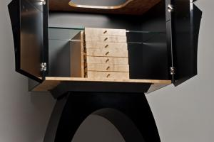 shelf and drawers with birch fiery