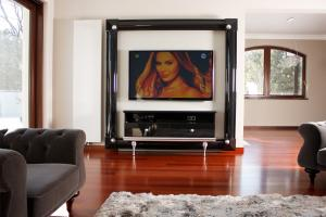 Frame with TV cabinet