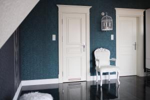 Wall with stylish door